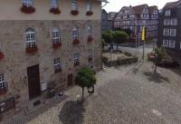 Multicopter über Marktplatz Spangenberg_3
