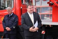 Übergabe Bewilligungsbescheid für Drehleiter durch Staatssekretär Mark Weinmeister_10