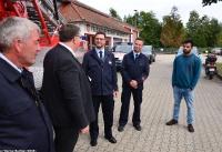 Übergabe Bewilligungsbescheid für Drehleiter durch Staatssekretär Mark Weinmeister_14