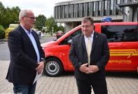 Übergabe Bewilligungsbescheid für Drehleiter durch Staatssekretär Mark Weinmeister_20