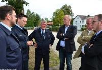 Übergabe Bewilligungsbescheid für Drehleiter durch Staatssekretär Mark Weinmeister_39