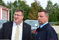 Übergabe Bewilligungsbescheid für Drehleiter durch Staatssekretär Mark Weinmeister_40