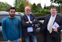 Übergabe Bewilligungsbescheid für Drehleiter durch Staatssekretär Mark Weinmeister_5